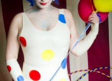 Leila Vixen-Clown Mini Dress