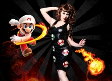 Lucy Fur-Mario Mushrooms Dress