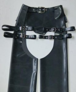 Latex Buckle Strap Chaps