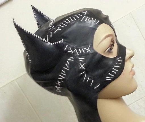 Stitched Catwoman Hood