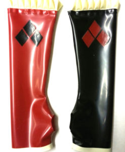 Harley Quinn Gloves Long Latex Gauntlets