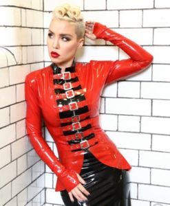 Latex Thumb Hook Buckle Jacket
