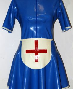 Latex Nurse Apron Dress