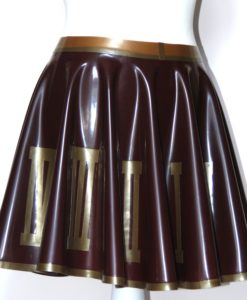 Latex Steampunk Skater Skirt