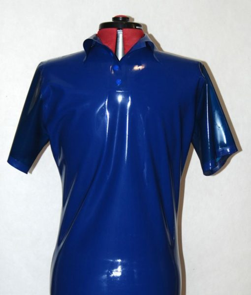 Mens Latex Polo Shirt