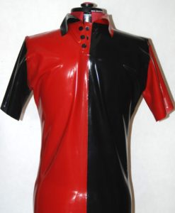 polo shirt red and black