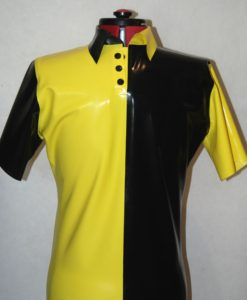 Mens Latex Block Polo Shirt