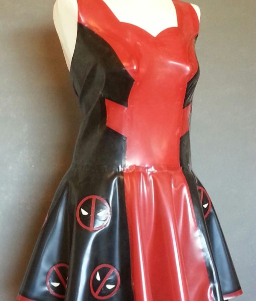 Latex Deadpool Cosplay Dress