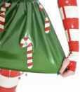 Striped candy cane gloves