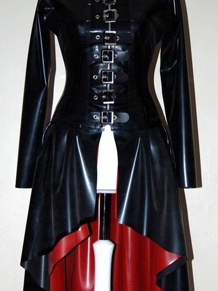 Long Flared Gothic  Buckle Coat