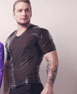 Mens Latex T Shirt
