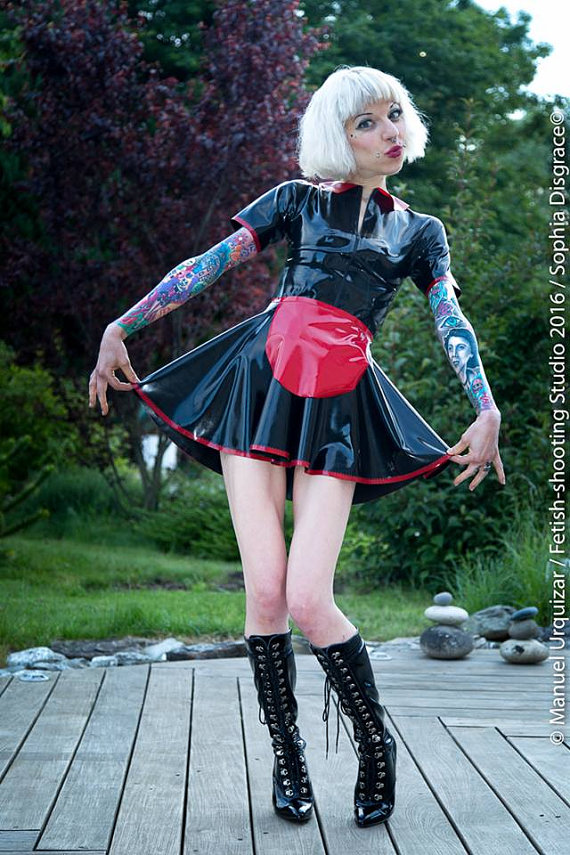 Latex Maid Dress Fetasia Latex