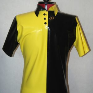 polo shirt yellow and black